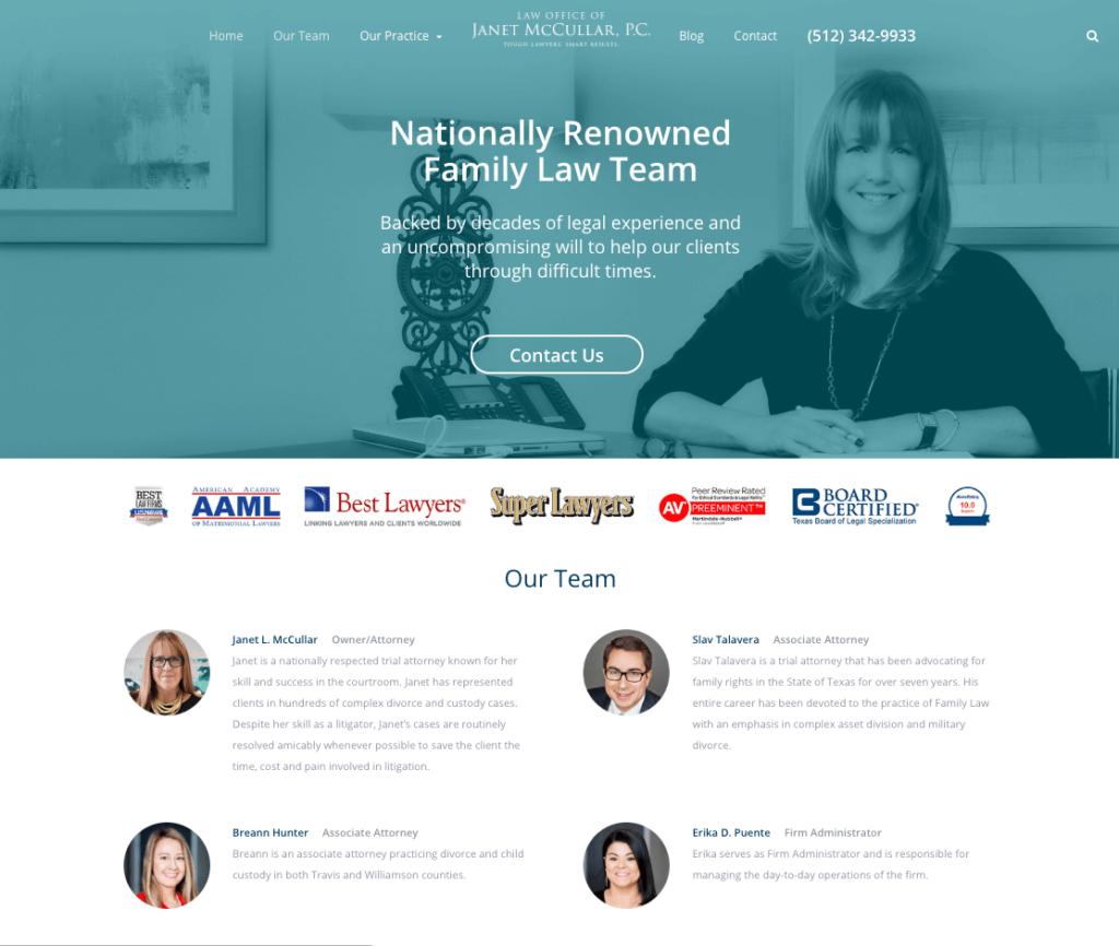 McCullar Website Redesign