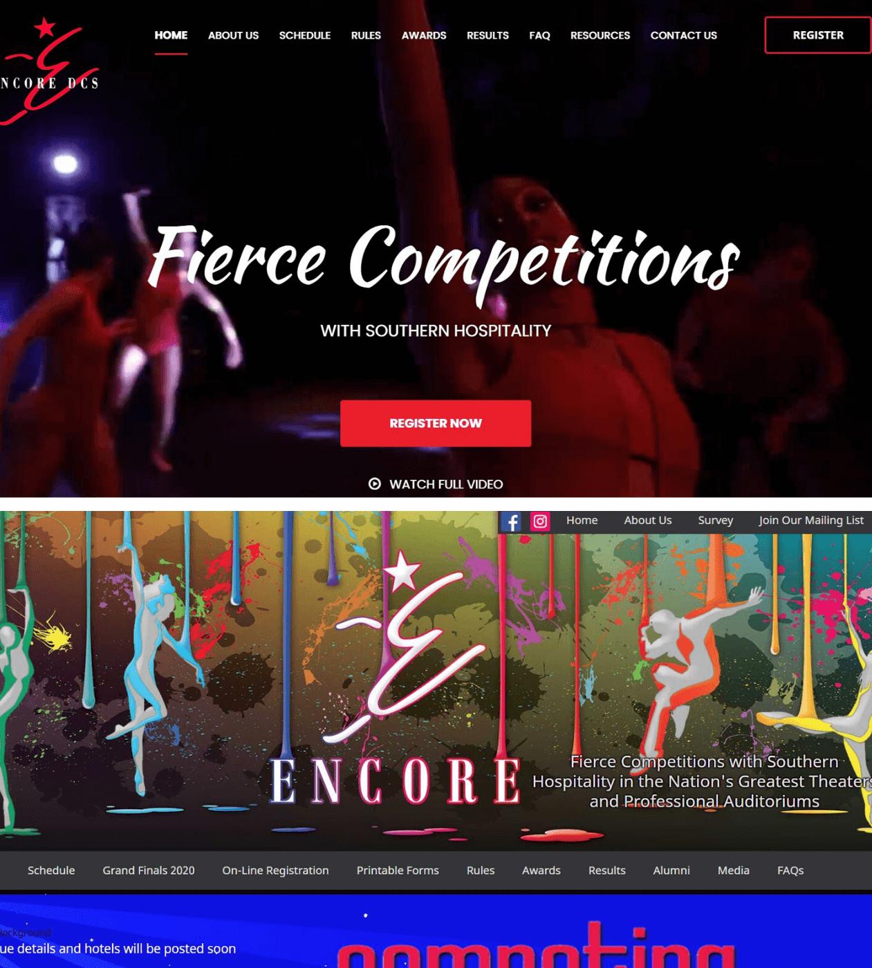 Encore Dance New & Old Site