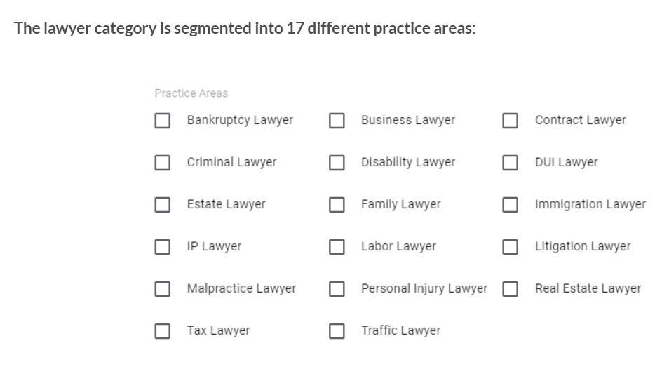 LSA Lawyer Category